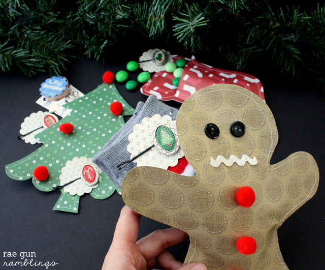 Creative gift packaging. How to make cute Christmas paper pouches out of scrap book paper at Rae Gun Ramblings #papercraftedchristmas