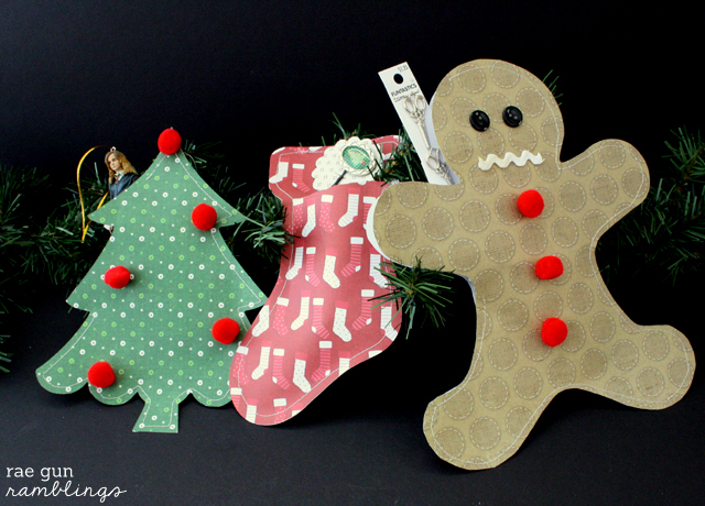 How to make your own custom filled Christmas Paper Packages - Rae Gun Ramblings #papercraftedchristmas
