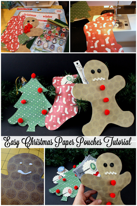 Step by step instructions on how to make quick and cute Christmas paper packages at Rae Gun Ramblings #papercraftedchristmas