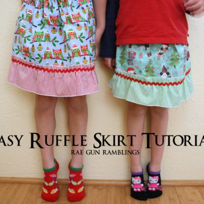 Easy Ruffle Skirt Tutorial and Sewing with Kids