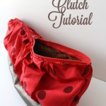 Gathered Clutch Tutorial. Easily customizable and a great gift idea. Rae Gun Ramblings