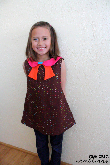 Norah Dress. Cute and easy sewing for girls at Rae Gun Ramblings