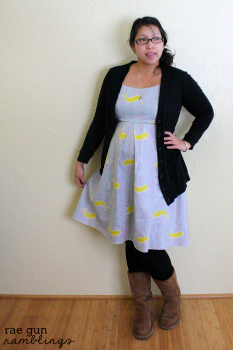 DIY Single Pleat Maternity Dress - Rae Gun Ramblings