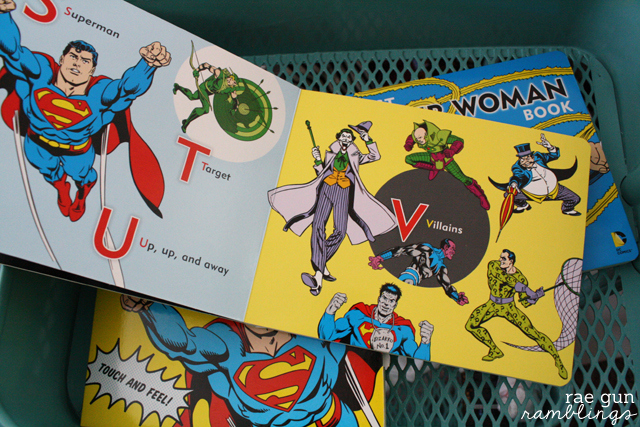 Great baby books. Super Hero board books. ABC 123 comic book style!  Rae Gun Ramblings