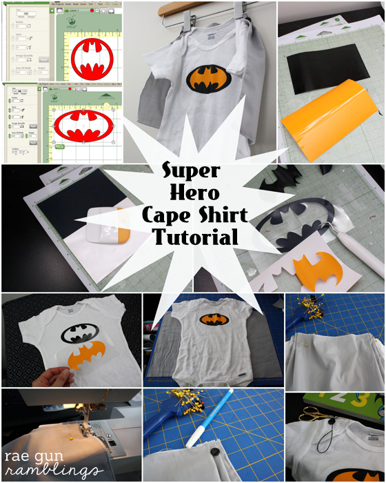 How to make your own detachable cape Super Hero shirt at Rae Gun Ramblings