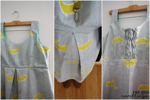 single pleat dress collage  at Rae GUn Ramblings