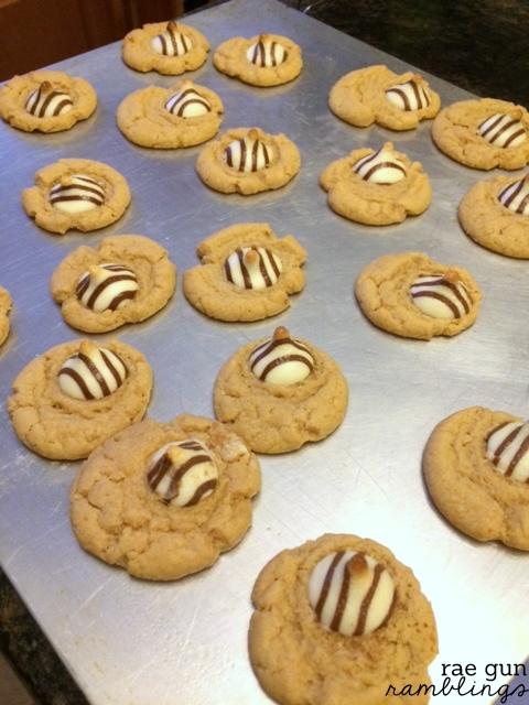 Great use of leftover candy. Zebra cookies recipe at Rae Gun Ramblings
