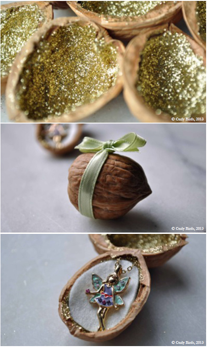 Handmade Winter. How to make darling walnut fariy gifts