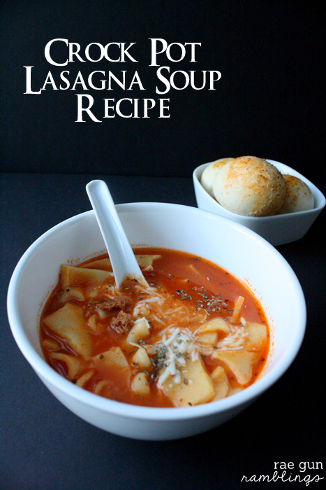 Super easy Lasagna Soup recipe for the crock pot (freezable) - Rae Gun Ramblings #GameTimeGoodies #shop #cbias