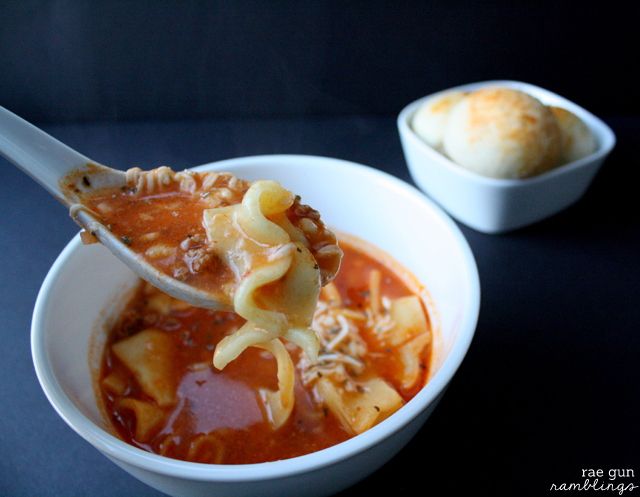 Delicious and easy lasagna soup recipe for the crock pot (freezable) - Rae Gun Ramblings#GameTimeGoodies #shop #cbias