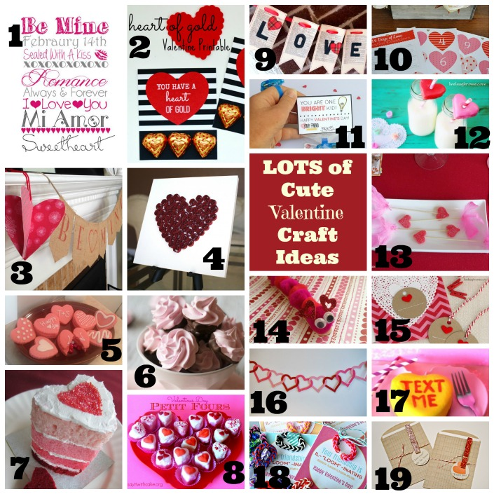Lots of awesome and easy DIY Valentine's Day Crafts and tutorials
