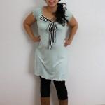 Handmade mint knit maternity dress - Rae Gun Ramblings