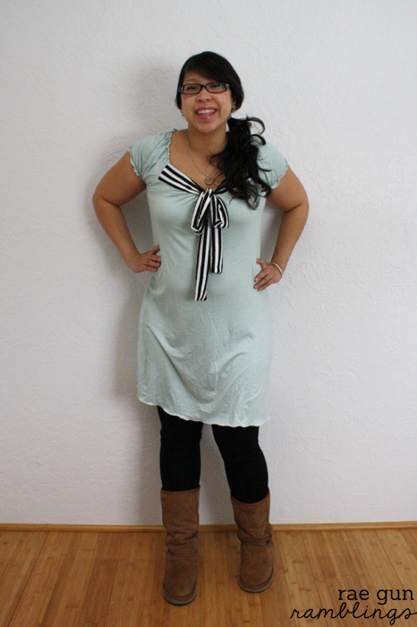 Handmade mint knit maternity dress - Rae Gun Ramblings