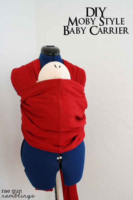 How to Make A Moby Wrap Baby Carrier - Rae Gun Ramblings