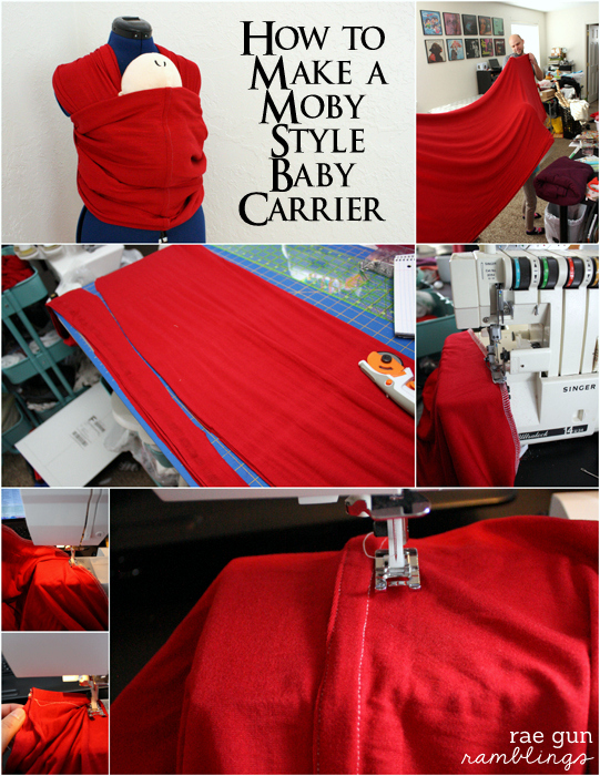 Step by step free pattern and tutorial for how to make your own Moby baby wrap - Rae Gun Ramblings