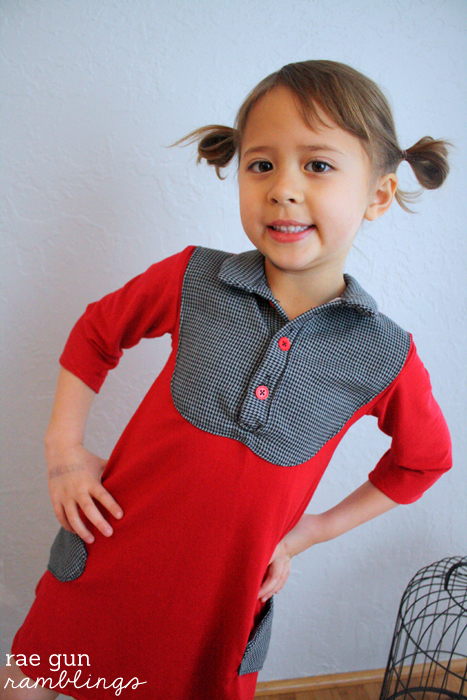 Cute sewing pattern for kids. The Bond Shirt from Beatnik Patterns sewn by Rae Gun Ramblings