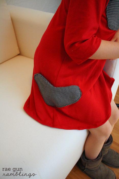 Easy tutorial on how to make heart shaped pockets - Rae Gun Ramblings
