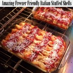 Best stuffed shells recipe. Freezes well too. Perfect for having on hand or bring to new moms, etc. at Rae Gun Ramblings
