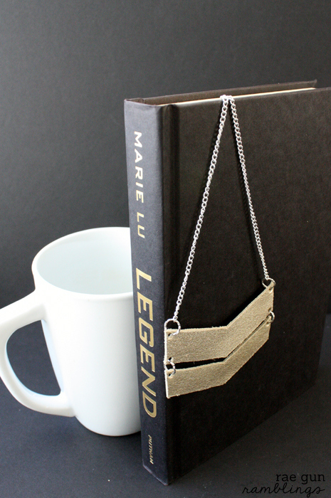 Legend YA book inspired DIY chevron leather and chain necklace - Rae Gun Ramblings