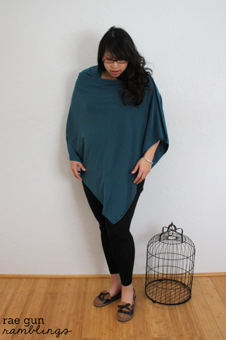 Knit shawl style nursing cover - Rae Gun Ramblings