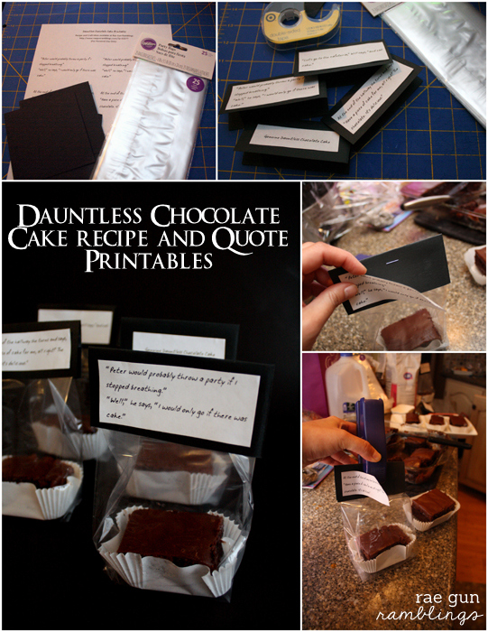 Super yummy chocolate cake recipe, Quote printable and tutorial for fans of Divergent - Rae Gun Ramblings