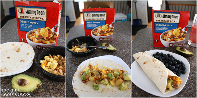 Easy Breakfast Burritos at Rae Gun Ramblings #RedboxBreakfast #PMedia #ad
