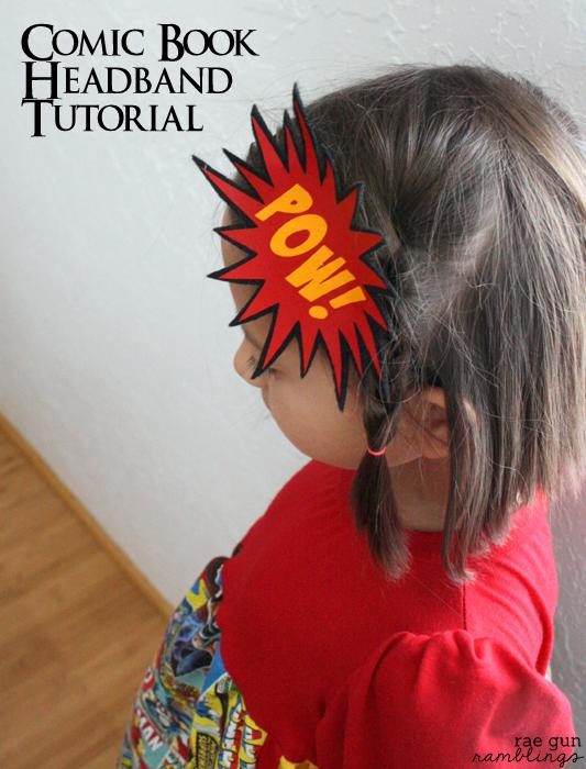 POW! Headband. How to make your own wonderfully geeky comic book inspired accessories - Rae Gun Ramblings