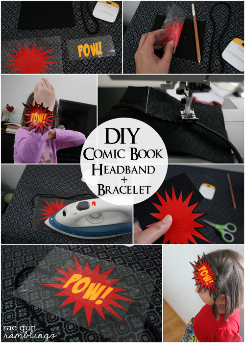 How to make your own comic book inspired headband - Rae Gun Ramblings