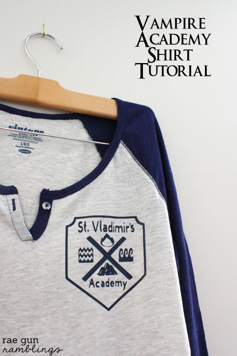 Vampire Academy Shirt Tutorial at Rae Gun Ramblings
