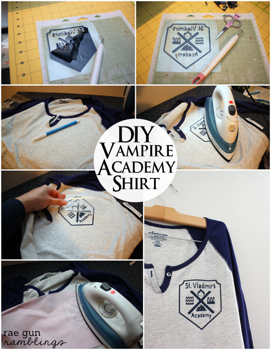 Vampire Academy St. Vladimir's Shirt Tutorial from Rae Gun RamblingsVampire Academy St. Vladimir's Shirt Tutorial from Rae Gun Ramblings