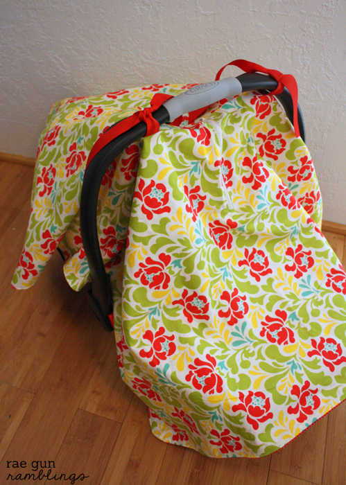 Step by step instructions for how to sew your own car seat cover - Rae Gun Ramblings