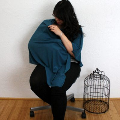 Shawl Style Knit Nursing Cover Tutorial