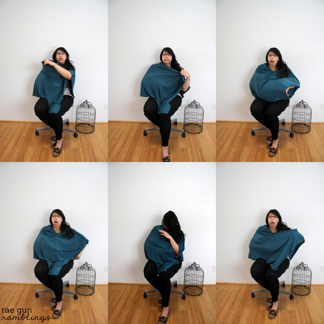 The best nursing cover ever. Flailing baby proof, and super easy to make and wear. Tutorial at Rae Gun Ramblings