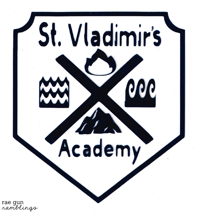 Vampire Academy St. Vladimir's academy school crest and shirt tutorial from Rae Gun Ramblings