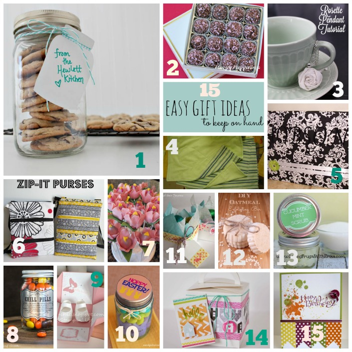 15 Easy DIY gift ideas that you can always have on hand for any special occassion