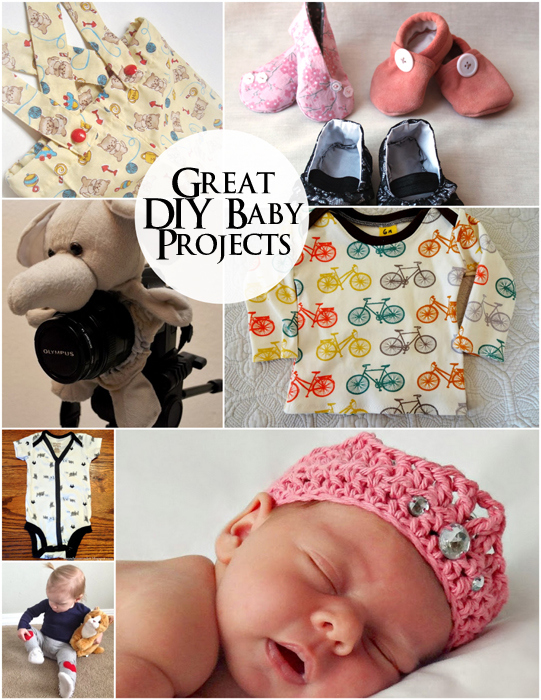A bunch of cute DIY baby ideas and tutorials
