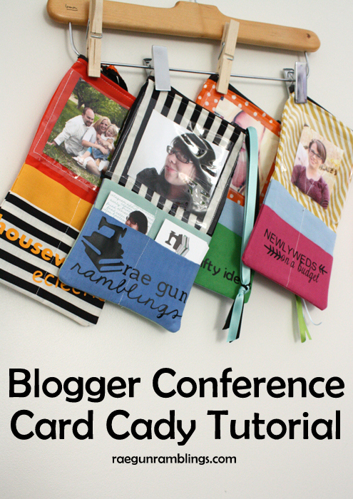 The perfect business card case for blog conferences. Recognizable and convenient - Rae Gun Ramblings