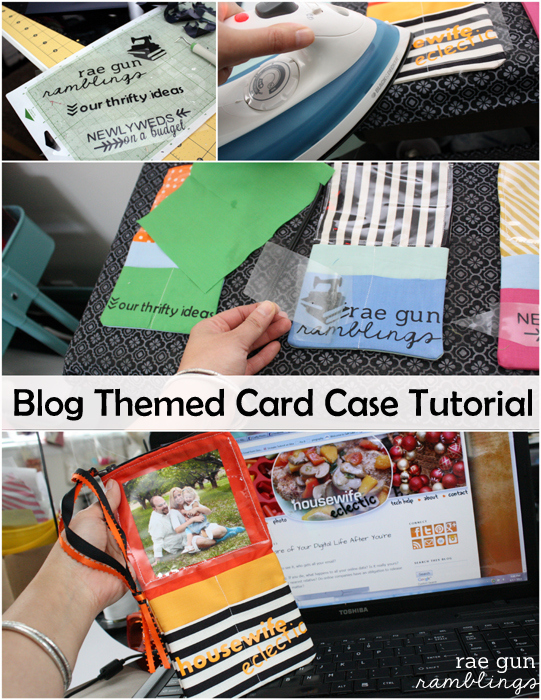 a customised blogger business card case perfect for conferences. Tutorial at Rae Gun Ramblings