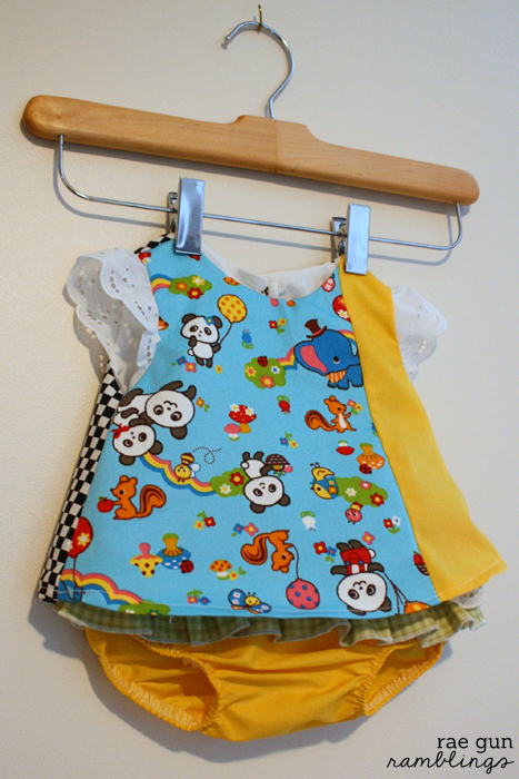 How to make an asymmetrical baby dress - Rae Gun Ramblings