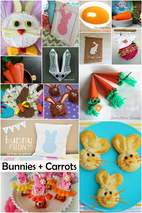Darling and delicious bunny and carrot projects just in time for Easter and Spring-Making the World Cuter