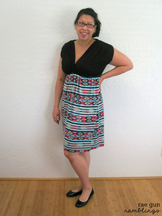 Sew Our Stash two bloggers challenge eachother to make clothes for themselves at Rae Gun Ramblings