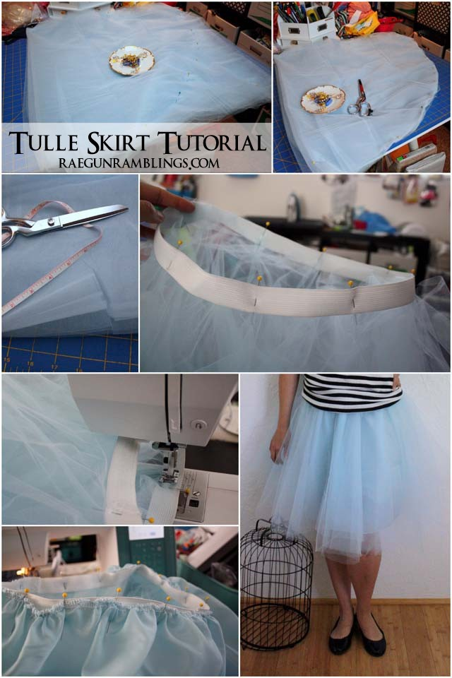 Step by step instructions for making one of those cool tulle skirts - Rae Gun Ramblings