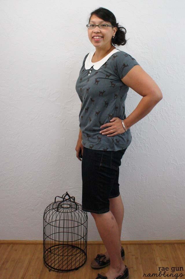 Darling free pattern for a Peter Pan shirt. Fast and simple project - Rae Gun Ramblings
