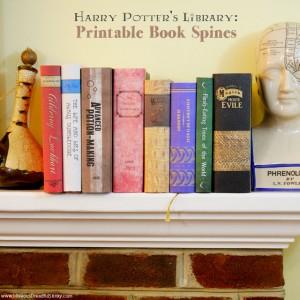 Printable Harry Potter World book spine props