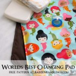 Free changing pad pattern. Easy sewing project - Rae Gun Ramblings