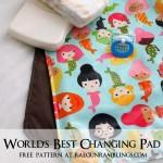 Free changing pad pattern. Easy sewing project - Rae Gun Ramblings