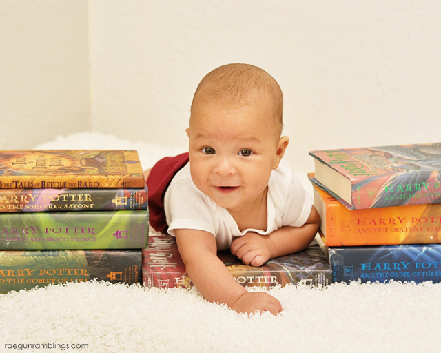 Adorable Harry Potter baby photo shoot at Rae Gun Ramblings