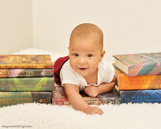 Adorable Harry Potter baby photo shoot at Rae Gun Ramblings