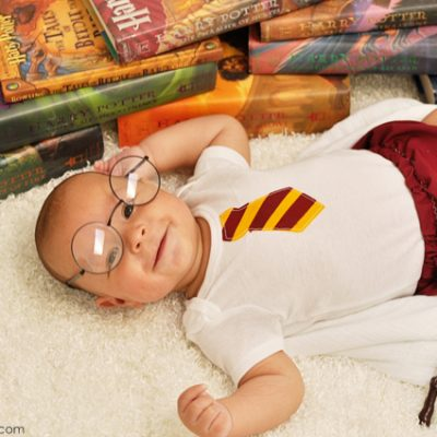 The Ultimate Harry Potter Baby Photo Shoot and Harry Potter Props Giveaway