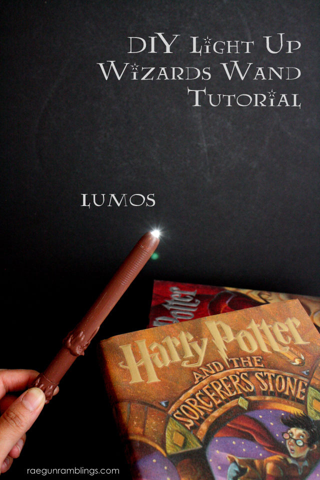 Harry Potter Book Light : Printable potter world book spines and light up wand